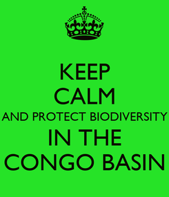 Poster: KEEP CALM AND PROTECT BIODIVERSITY IN THE CONGO BASIN