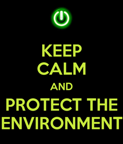 Poster: KEEP CALM AND PROTECT THE ENVIRONMENT