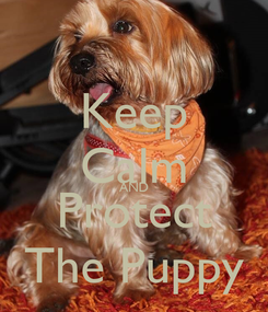 Poster: Keep Calm AND Protect The Puppy