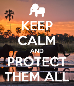 Poster: KEEP CALM AND PROTECT THEM ALL