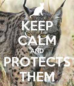 Poster: KEEP CALM AND PROTECTS THEM
