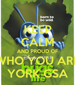 Poster: KEEP CALM AND PROUD OF WHO YOU ARE YORK GSA
