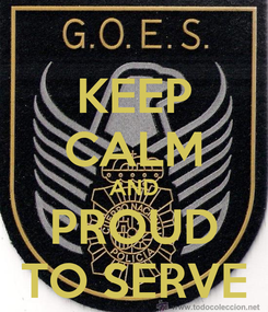Poster: KEEP CALM AND PROUD TO SERVE