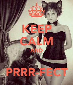 Poster: KEEP CALM AND  PRRR-FECT