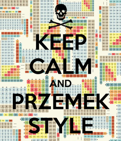 Poster: KEEP CALM AND PRZEMEK STYLE