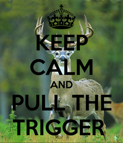 Poster: KEEP CALM AND PULL THE TRIGGER