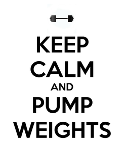Poster: KEEP CALM AND PUMP WEIGHTS