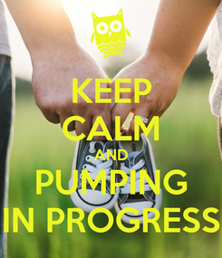 Poster: KEEP CALM AND PUMPING IN PROGRESS