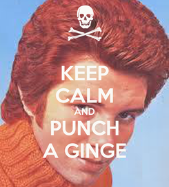 Poster: KEEP CALM AND PUNCH A GINGE