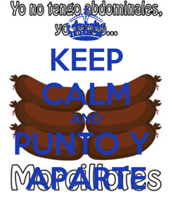 Poster: KEEP CALM AND PUNTO Y  APARTE