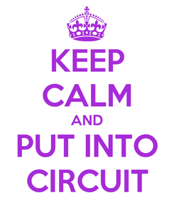 Poster: KEEP CALM AND PUT INTO CIRCUIT