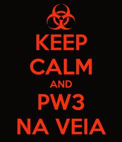 Poster: KEEP CALM AND PW3 NA VEIA