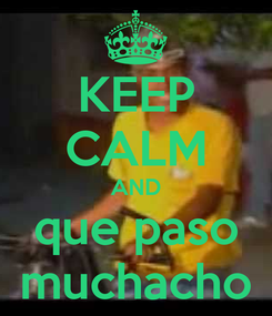 Poster: KEEP CALM AND que paso muchacho