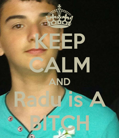 Poster: KEEP CALM AND Radu is A BITCH