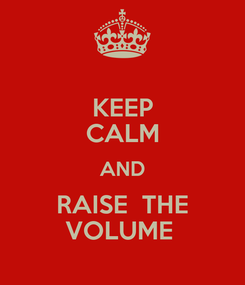 Poster: KEEP CALM AND RAISE  THE VOLUME
