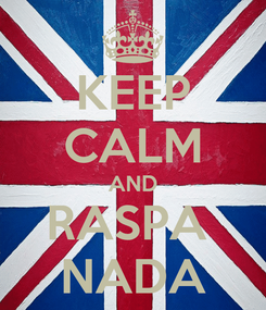 Poster: KEEP CALM AND RASPA  NADA
