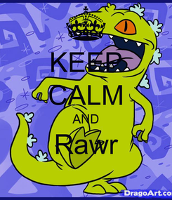 Poster: KEEP CALM AND Rawr