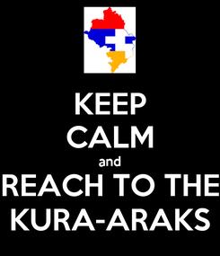 Poster: KEEP CALM and REACH TO THE KURA-ARAKS