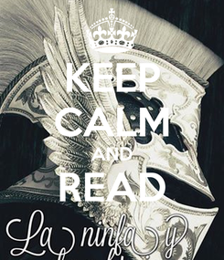 Poster: KEEP CALM AND READ