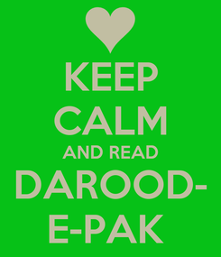 Poster: KEEP CALM AND READ DAROOD- E-PAK