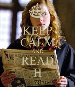 Poster: KEEP CALM AND READ H