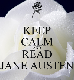 Poster: KEEP CALM AND READ JANE AUSTEN