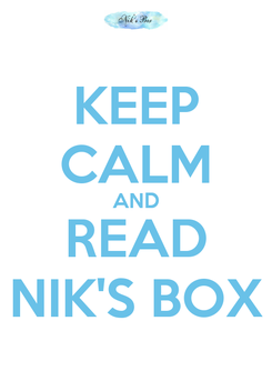 Poster: KEEP CALM AND READ NIK'S BOX