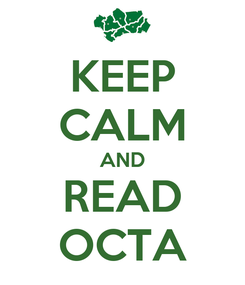 Poster: KEEP CALM AND READ OCTA
