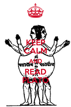 Poster: KEEP CALM AND READ PLATO