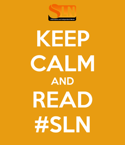Poster: KEEP CALM AND READ #SLN