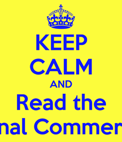 Poster: KEEP CALM AND Read the International Commercial Guide
