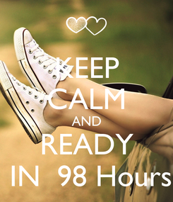 Poster: KEEP CALM AND READY  IN  98 Hours