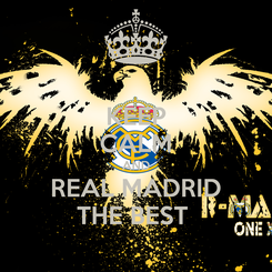 Poster: KEEP CALM AND REAL MADRID THE BEST