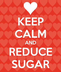Poster: KEEP CALM AND REDUCE SUGAR