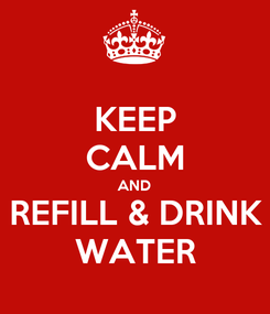 Poster: KEEP CALM AND REFILL & DRINK WATER