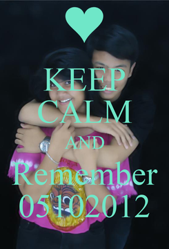 Poster: KEEP CALM AND Remember 05102012