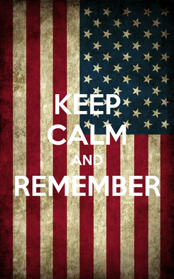 Poster: KEEP CALM AND REMEMBER