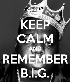 Poster: KEEP CALM AND REMEMBER B.I.G.