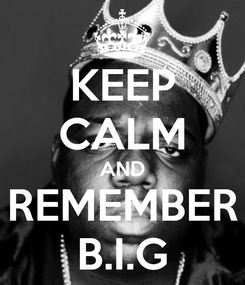 Poster: KEEP CALM AND REMEMBER B.I.G
