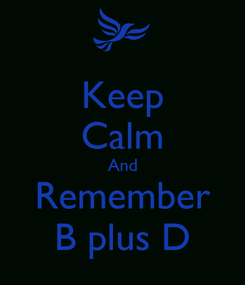 Poster: Keep Calm And Remember B plus D
