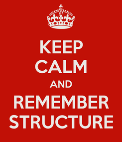 Poster: KEEP CALM AND REMEMBER STRUCTURE