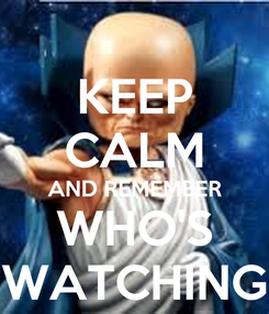 Poster: KEEP CALM AND REMEMBER WHO'S WATCHING