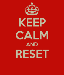 Poster: KEEP CALM AND RESET