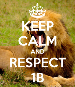 Poster: KEEP CALM AND RESPECT 1B