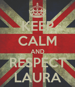 Poster: KEEP CALM AND RESPECT LAURA