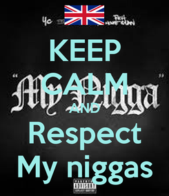 Poster: KEEP CALM AND Respect My niggas