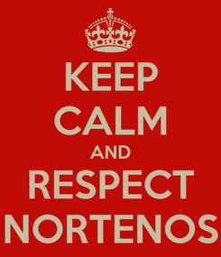 Poster: KEEP CALM AND RESPECT NORTENOS