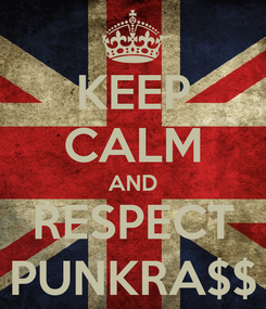 Poster: KEEP CALM AND RESPECT PUNKRA$$