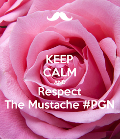 Poster: KEEP CALM AND Respect The Mustache #PGN