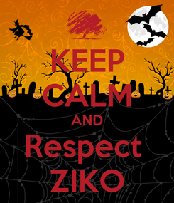Poster: KEEP CALM AND Respect  ZIKO